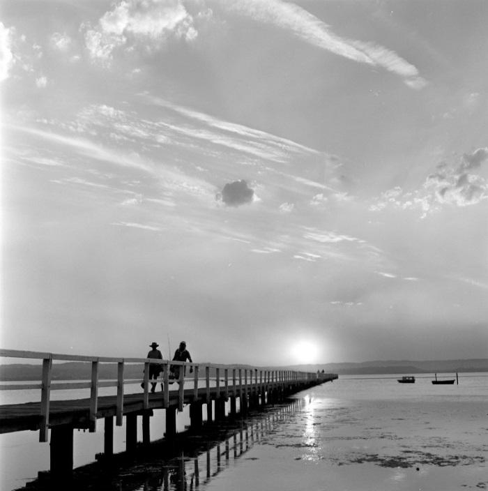Fishermen on wharf