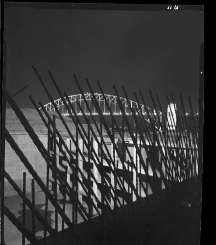 Max Dupain print: Sydney Opera House interior under construction March 1963