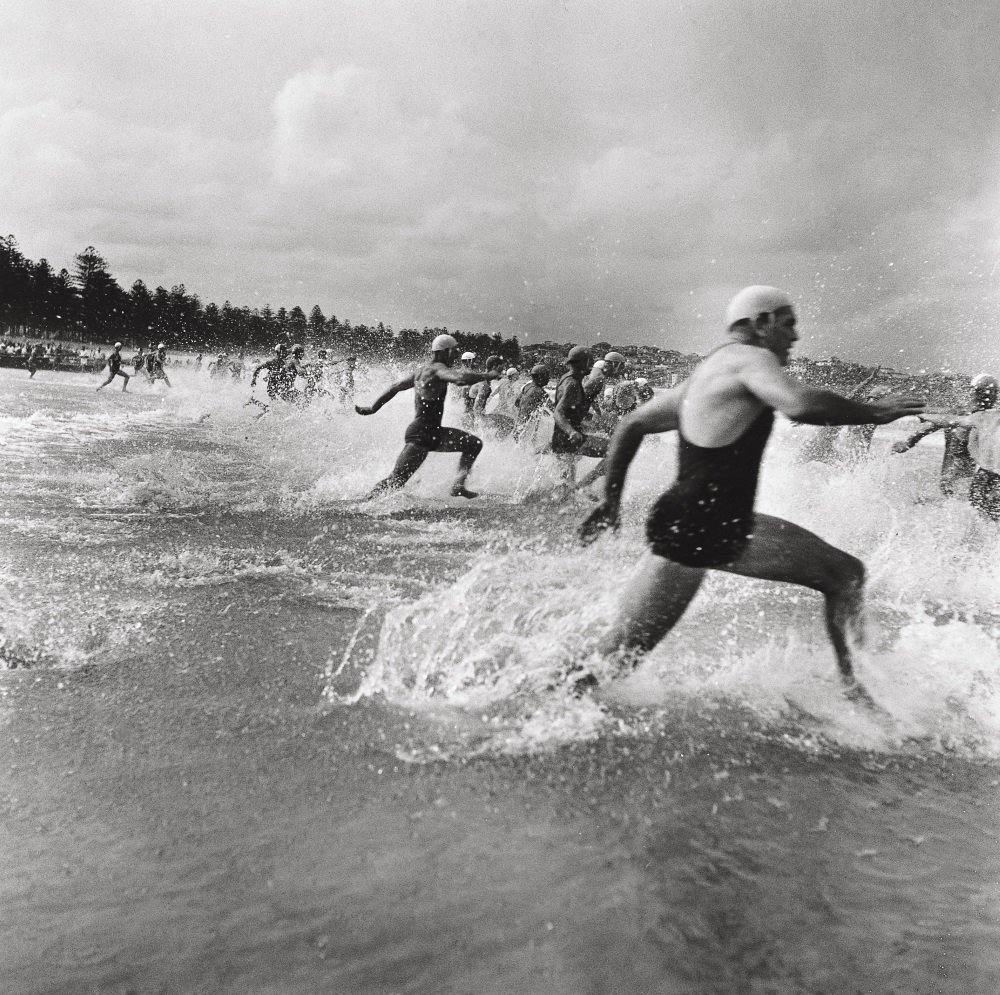 Surf race start, Manly 1940