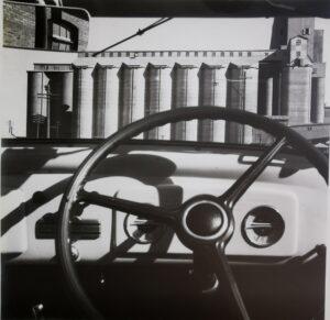 Silos through windscreen 1935